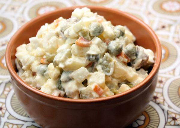 Оливье вегетарианское рецепт