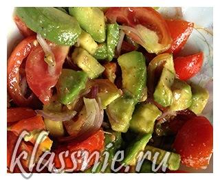 Салат из спелого авокадо