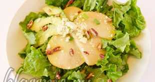 Салат из авокадо с грушей