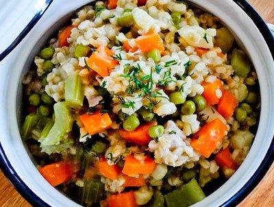 Каша с сельдереем и морковью