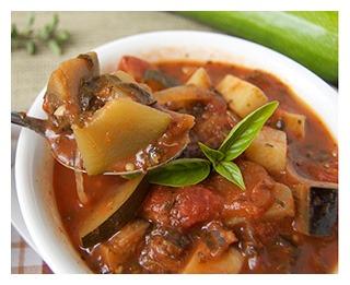 Овощной суп из баклажанов