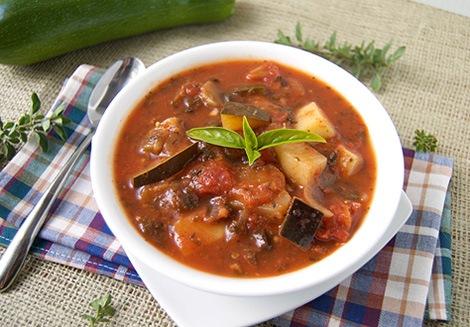 Суп из кабачков и баклажанов