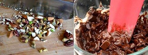 Обмакнуть в орехи и шоколад