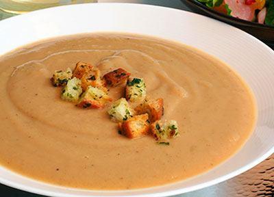 Суп крем из каштанов