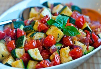 Цуккини с помидорами