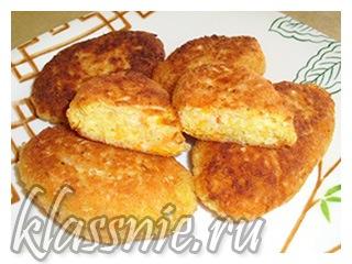 Овощные котлеты из картофеля и капусты