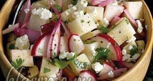 Салат из редиски и сыра
