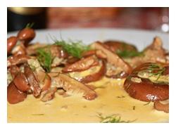 соус из рыжиков со сливками