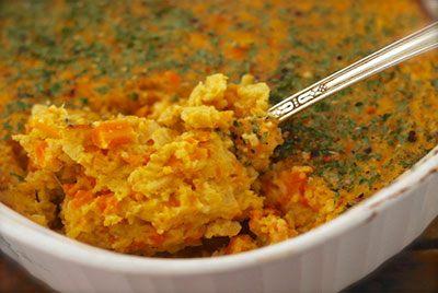 Запеканка из картофеля и моркови