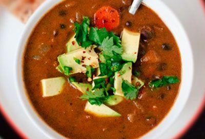 Суп с фасолью и сельдреем