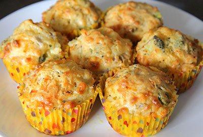 Кексы с сыром и овощами