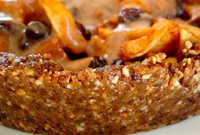 Сырой торт из яблок