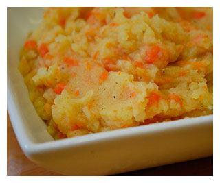 Пюре из моркови и картофеля