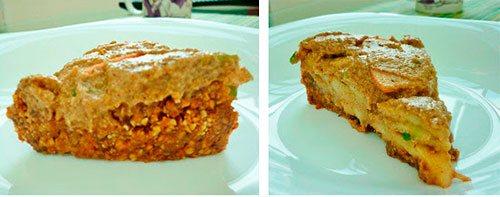 Сыроедный торт из яблок