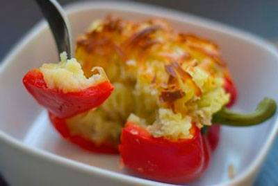 Перец фаршированный картофелем