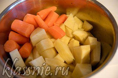 Овощи почистить