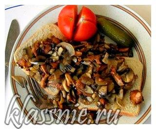 Бутерброд с грибами
