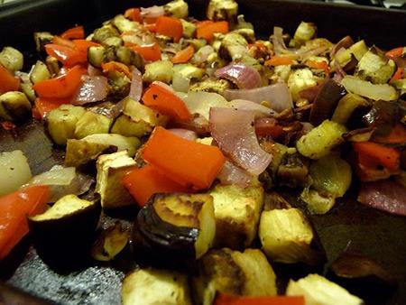 запечь овощи