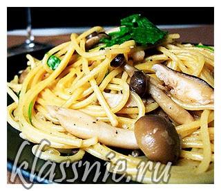 Спагетти с грибами (фото)