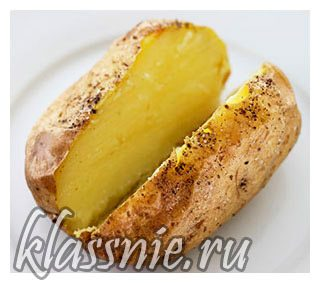 Печеный картофель в духовке