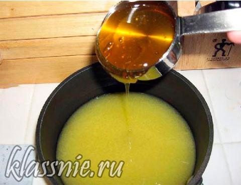 мед с соком апельсина