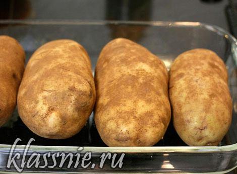 промыть картофель