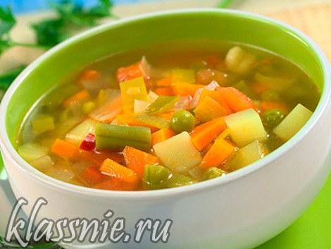 Рецепт легкого овощного супа