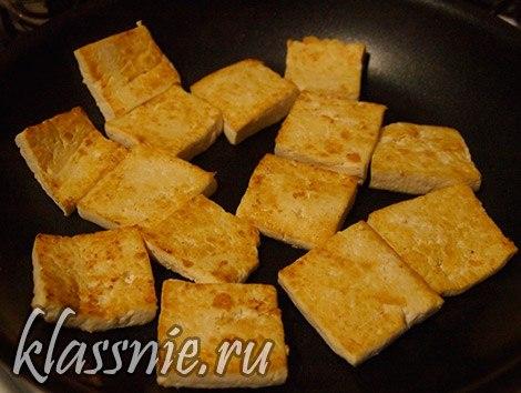 пожарить тофу