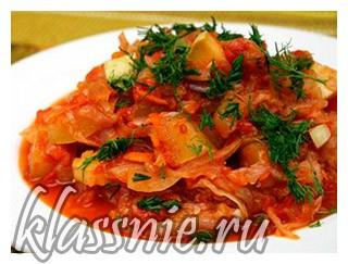 Овощное рагу с капустой и картофелем — пошаговый рецепт с фото