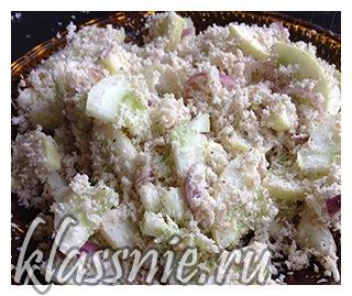 Острый салат из кокоса