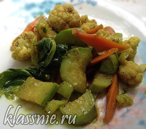 Тушеные острые овощи