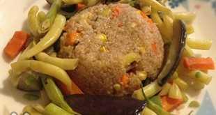Ячневая каша с овощами
