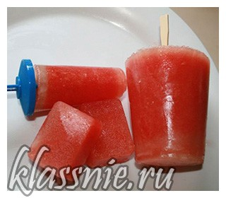 Мороженое из арбуза