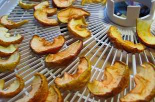 Сушеные яблоки в дегидраторе