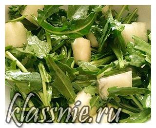 Салат  рукколой и дыней
