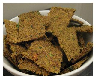 Сыроедческие крекеры из жмыха