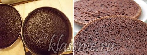 Веганский шоколадный корж