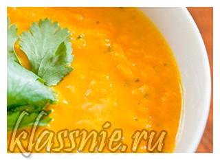 Суп-пюре из топинамбура с морковью