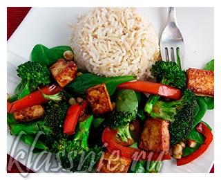 Дикий рис с тофу