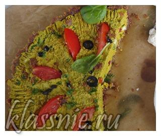 Сыроедная пицца