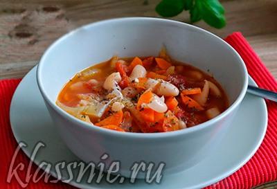 Фасолада — греческий суп с фасолью