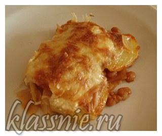Картофельная запеканка под сыром