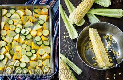 Кукуруза и кабачки