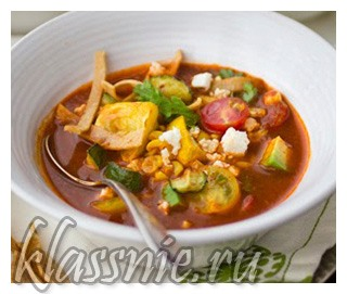 Овощной суп из печеных овощей