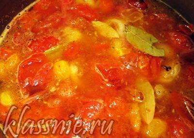 Отварить помидоры
