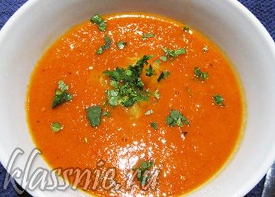 Суп пюре из помидоров