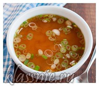 Вегетарианский мисо суп