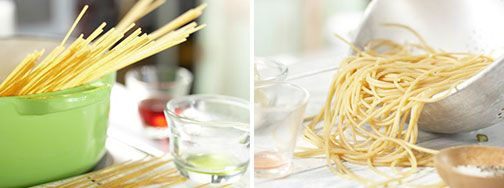 Отварить спагетти