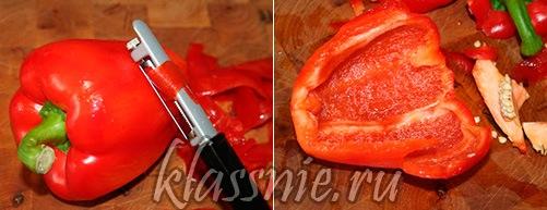 Сладкий перец - подготовка