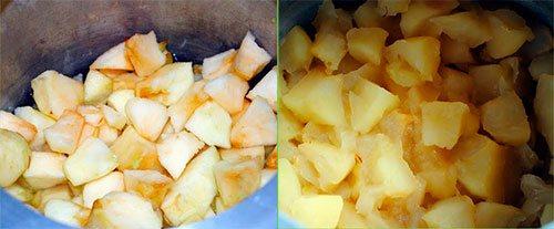 Разваренные яблоки